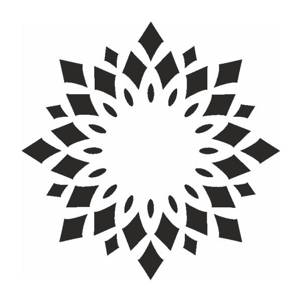 Selbstklebe Schablone Kaleidoskop Eulenspiegel
