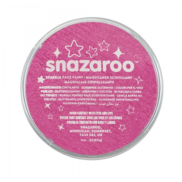Snazaroo Schminkfarbe Schimmernd Rosa 18 ml