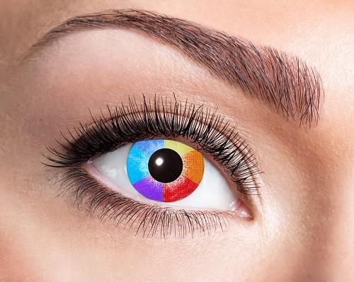 Eyecatcher Fantasy 12 Monatslinsen Rainbow