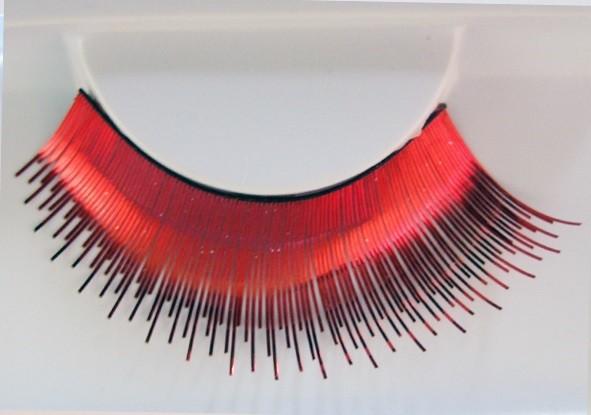Eulenspiegel Wimpern Rot metallic