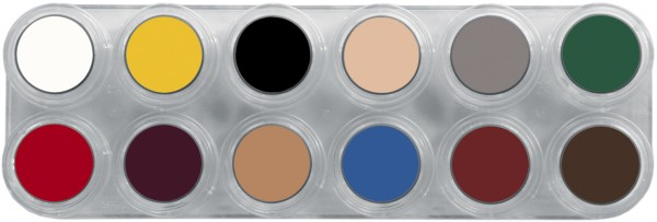Grimas Crème Make-up Pure Palette B - 12 x 2,5 ml