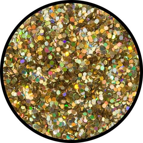 12 g Holographischer Streu Glitzer Gold Juwel Grob