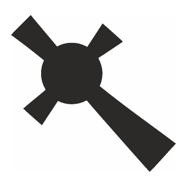 Selbstklebe Schablone Celtic Cross Eulenspiegel