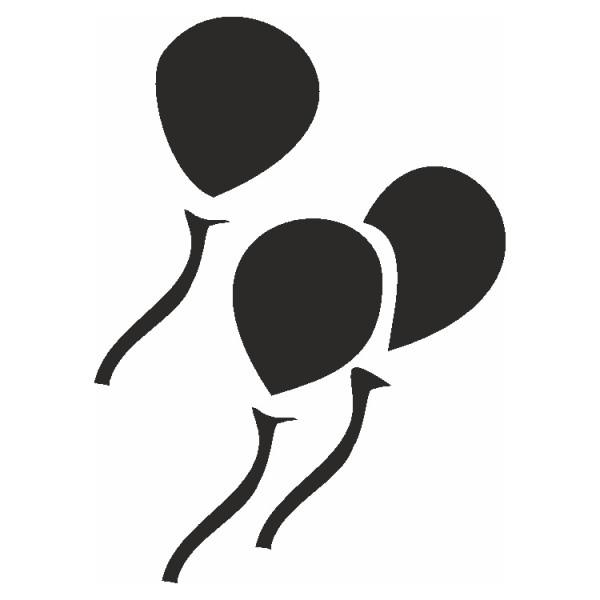 Selbstklebe Schablone Luftballons Eulenspiegel