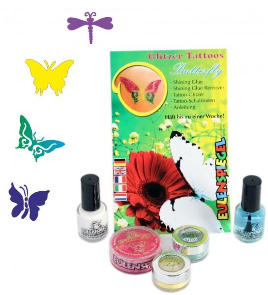 Glitzer Tattoos Butterfly Eulenspiegel