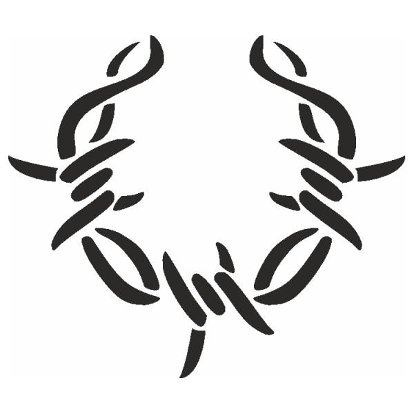 Selbstklebe Schablone Stacheldraht Eulenspiegel