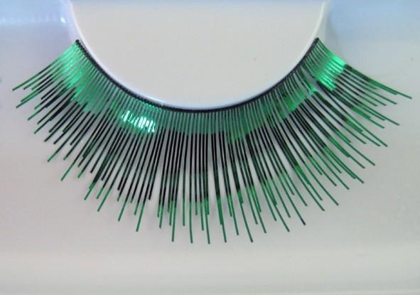 Eulenspiegel Wimpern Grün metallic