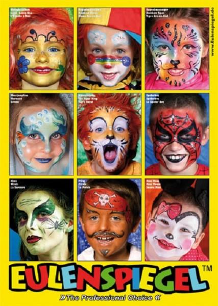 Eulenspiegel Poster mit 9 Masken