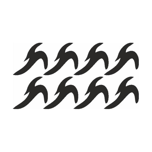 Selbstklebe Schablone Wassermann Eulenspiegel