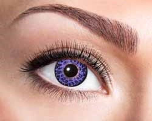 Eyecatcher Fantasy 12 Monatslinsen Purple Leopard