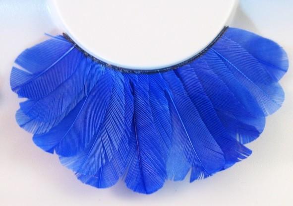 Eulenspiegel Wimpern Blaue Federn