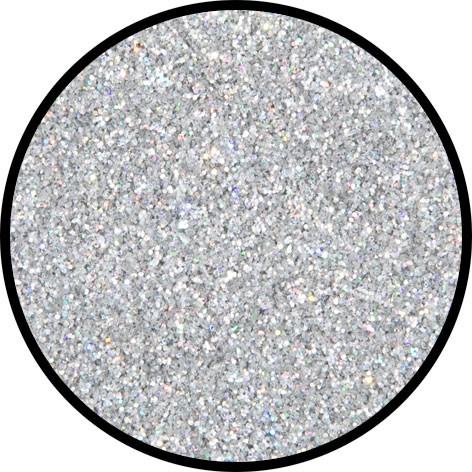 12 g Holographischer Streu Glitzer Silber Juwel Fein