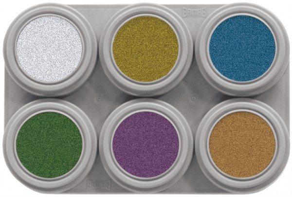 Grimas Water Make-up Metallic M6 - 6 x 2,5 ml Palette