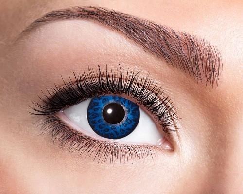Eyecatcher Fantasy 12 Monatslinsen Blue Leopard