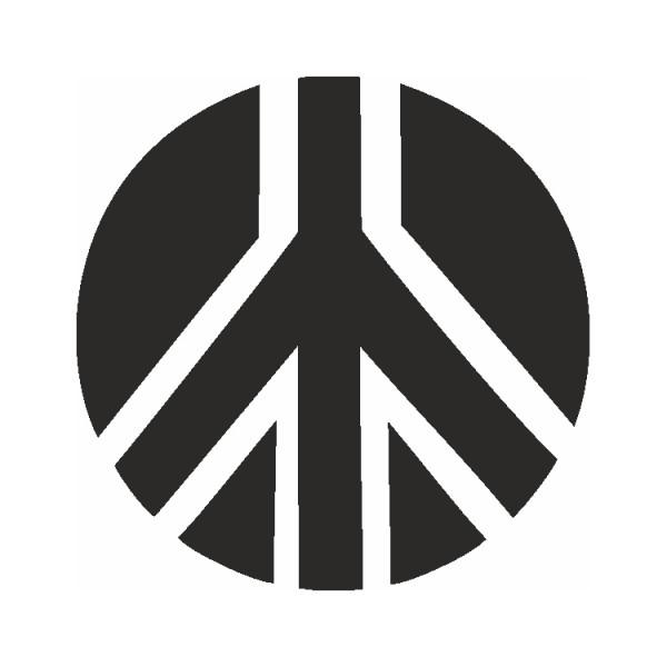 Selbstklebe Schablone Friedenszeichen Eulenspiegel