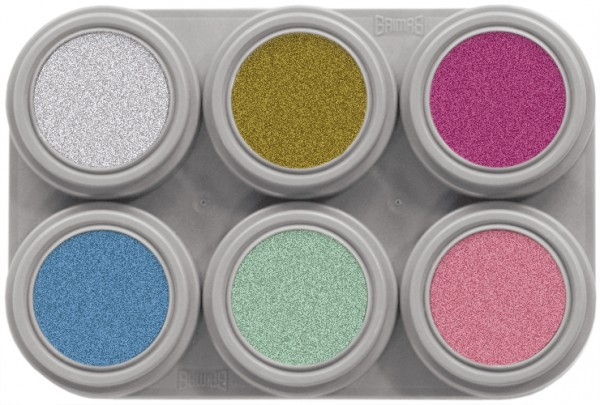 Grimas Water Make-up Pearl Palette 06 (6 x 2,5 ml)