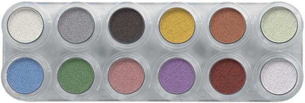 Grimas Pearl Eyeshadow Rouge Palette P1 - 12 x 2,5 g