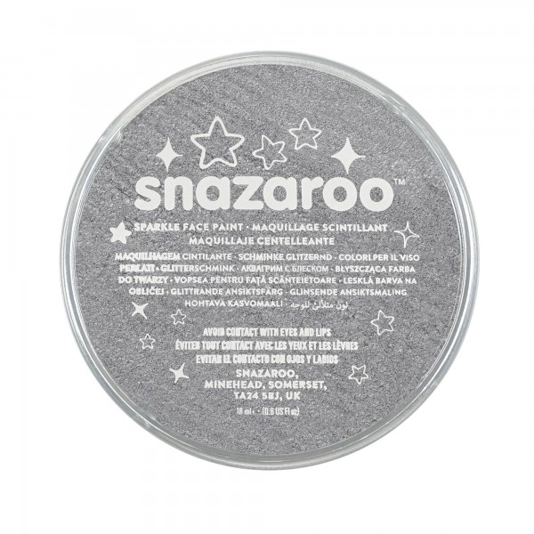Snazaroo Schminkfarbe Schimmernd Metallgrau18 ml