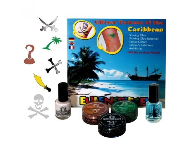 Tattoo Glitzer Set Tattoos of the Caribbean (XL) Eulenspiegel