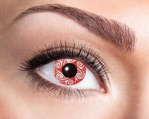 Eyecatcher Fantasy 12 Monatslinsen Red Swirls