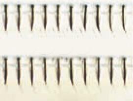 Eulenspiegel Wimpern Schwarz einzeln