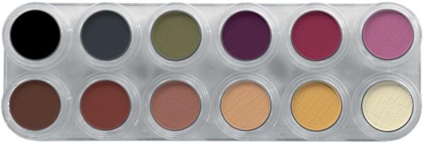 Grimas Eyeshadow - Rouge Palette 12 FM - 12 x 2g