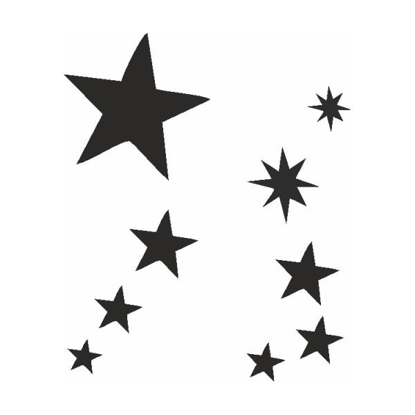 Selbstklebe Schablonen Set Sterne Eulenspiegel