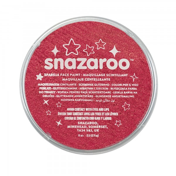 Snazaroo Schminkfarbe Schimmernd Rot 18 ml