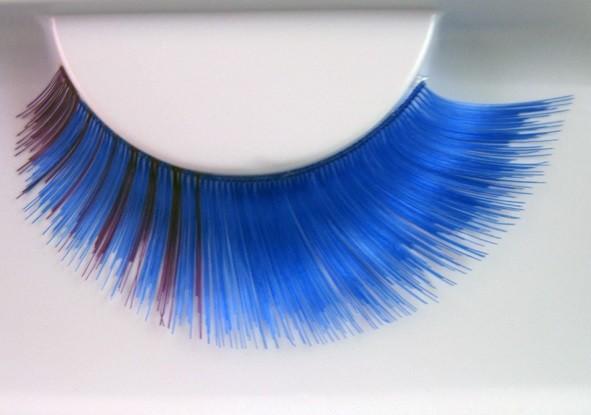 Eulenspiegel Wimpern Blau / Lila