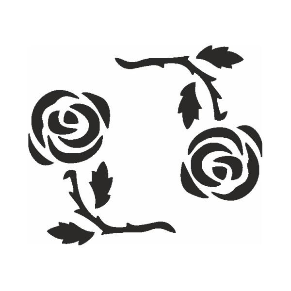 Selbstklebe Schablone Rosenkreis Eulenspiegel
