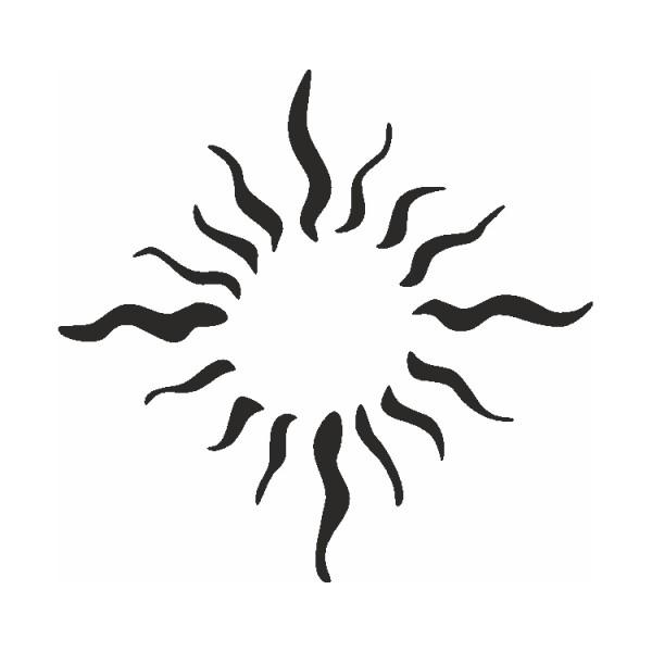 Selbstklebe Schablone Sonnenflammen Eulenspiegel