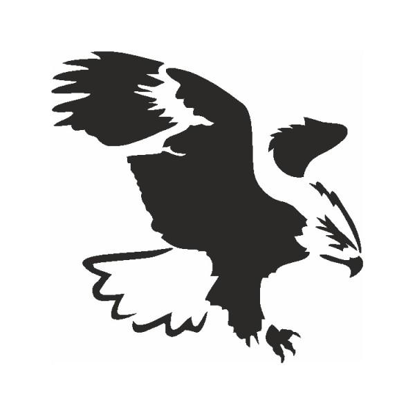 Selbstklebe Schablone Adler Eulenspiegel