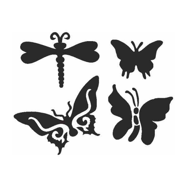 Selbstklebe Schablonen Set Butterflies Eulenspiegel