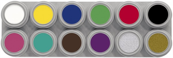Grimas Water Make-up Palette 12 A (12 x 2,5 ml)