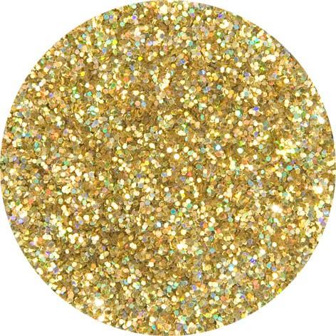 6 g Holographischer Streu Glitzer Gold Juwel Mittel