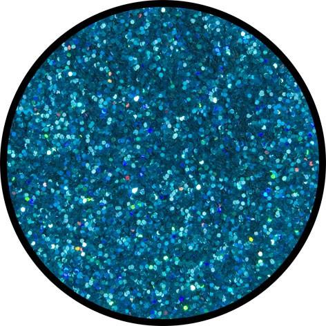 2 g Holographischer Streu Glitzer Blau Juwel