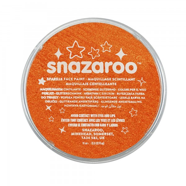 Snazaroo Schminkfarbe Schimmernd Orange 18 ml
