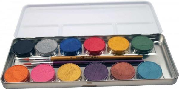 Eulenspiegel 12 Perlglanz Farben Metall Palette