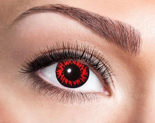 Eyecatcher Fantasy 12 Monatslinsen Red Wolf