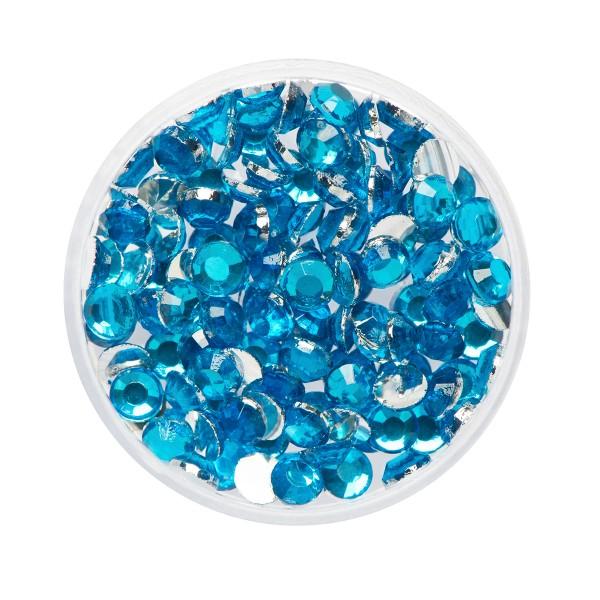 Eulenspiegel Glitzer-Steine Aquamarine