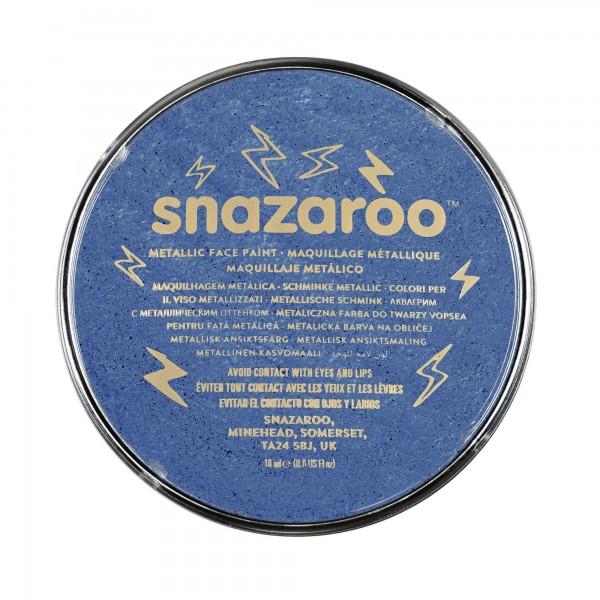 Snazaroo Schminkfarbe Metallic Elektrischblau 18 ml