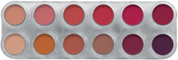 Grimas Eyeshadow - Rouge Palette 12 RC - 12 x 2g