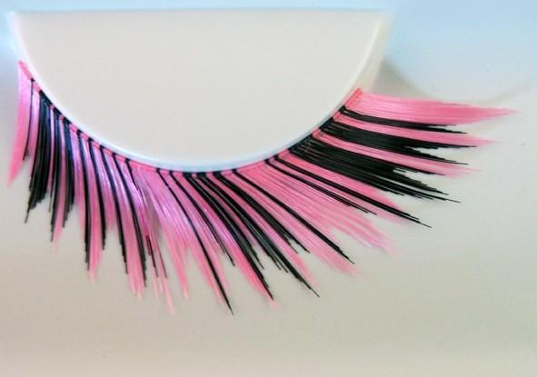 Eulenspiegel Wimpern Schwarz / Pink