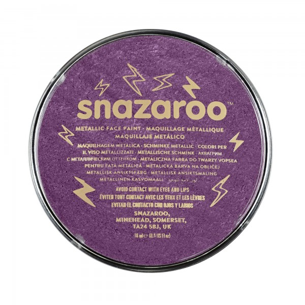 Snazaroo Schminkfarbe Metallic Elektrischviolett 18 ml