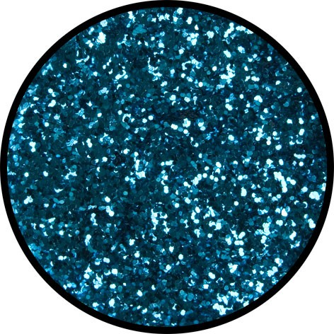 2 g Eulenspiegel Polyester Streu Glitzer Himmelblau