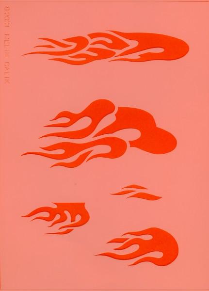 Airbrush Schablone Flames II Eulenspiegel