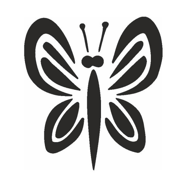 Selbstklebe Schablone Schmetterling Eulenspiegel