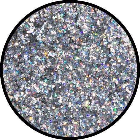 6 g Holographischer Streu Glitzer Silber Juwel Mittel