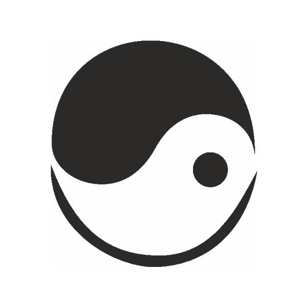 Selbstklebe Schablone Yin-Yang Eulenspiegel