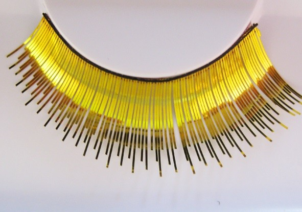Eulenspiegel Wimpern Gold metallic